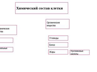 . Химический состав клетки Неорганические вещества Органические вещества Вод