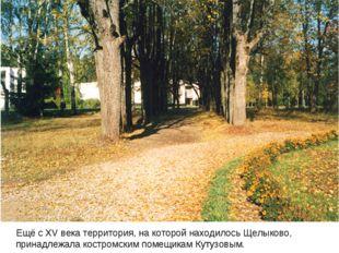 Ещё с XV века территория, на которой находилось Щелыково, принадлежала костр