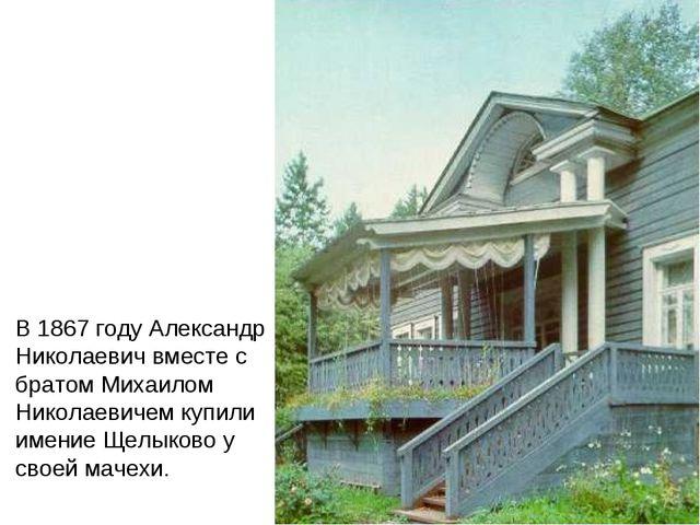 В 1867 году Александр Николаевич вместе с братом Михаилом Николаевичем купил...