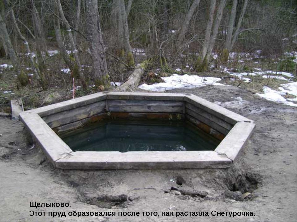 Щелыково. Этот пруд образовался после того, как растаяла Снегурочка.