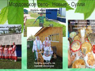 Мордовское село- Новые - Сулли Коллективы «Подруги», «Калинушка». Можно показ