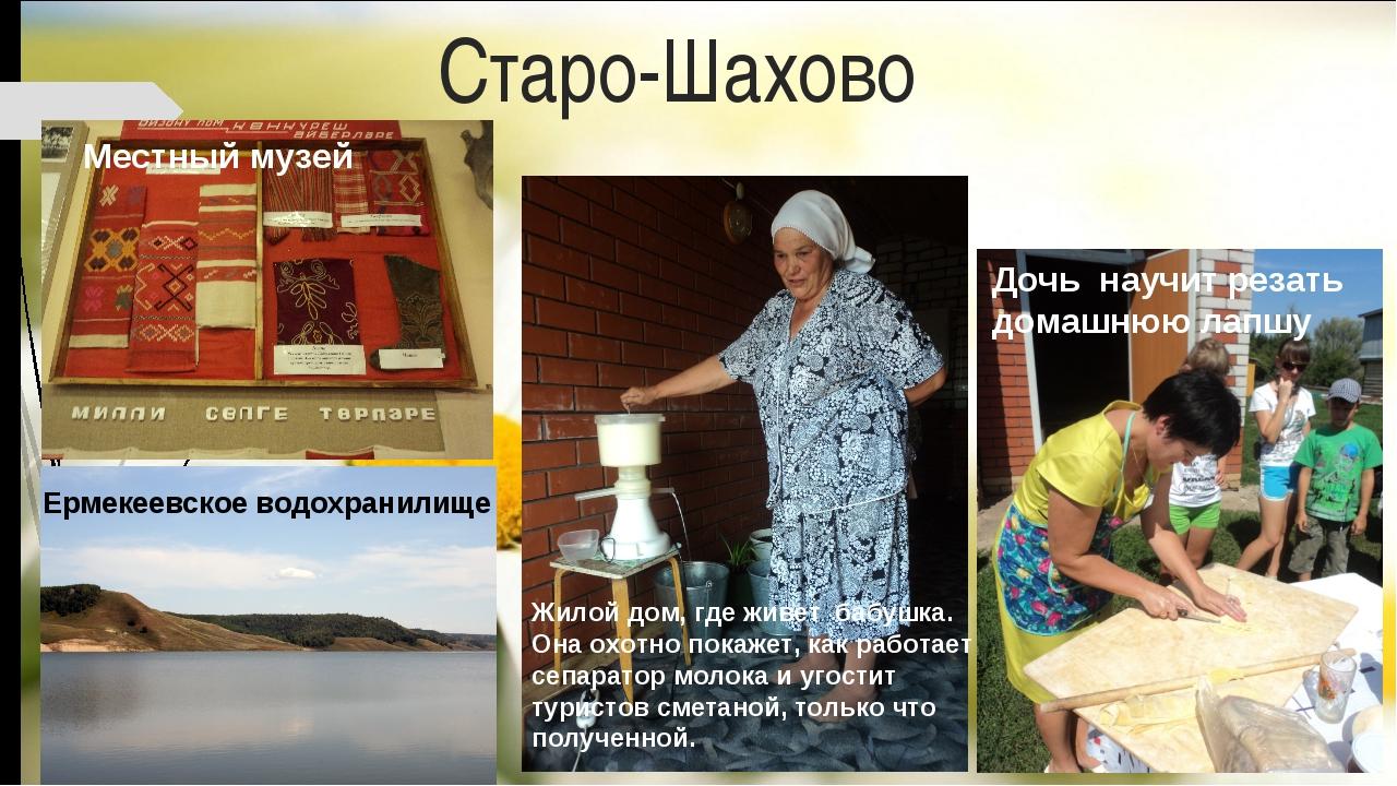 Старо-Шахово Ермекеевское водохранилище Дочь научит резать домашнюю лапшу Жил...
