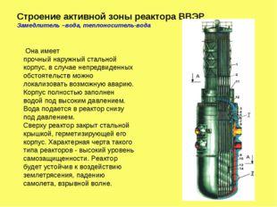 Строение активной зоны реактора ВВЭР Замедлитель –вода, теплоноситель-вода Он