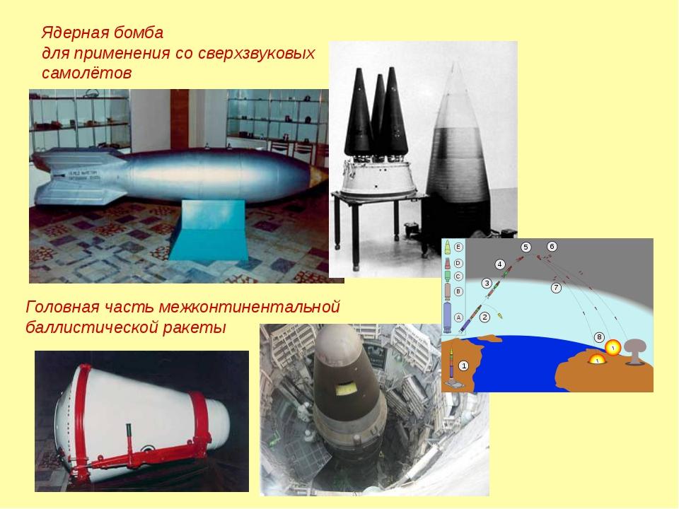 Ядерная бомба для применения сосверхзвуковых самолётов Головная часть межко...