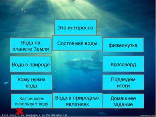 Вода на планете Земля Кому нужна вода Вода в природных явлениях Состояния вод