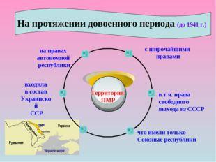 Территория ПМР с широчайшими правами в т.ч. права свободного выхода из СССР