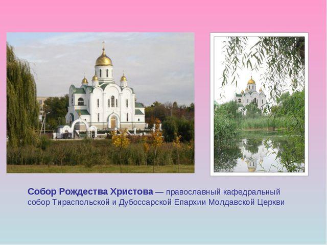 Собор Рождества Христова — православный кафедральный собор Тираспольской и Ду...