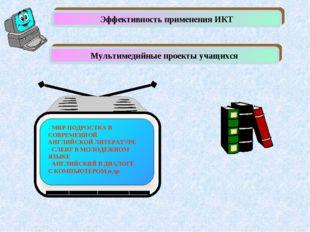 Эффективность применения ИКТ Мультимедийные проекты учащихся