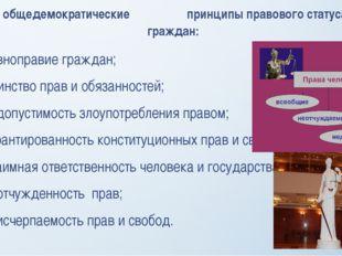 общедемократические принципы правового статуса граждан: равноправие граждан;