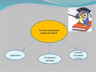 вербально Система оценивания первоклассников поощрение призами создание ситу