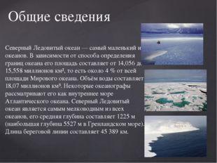 Северный Ледовитый океан — самый маленький из океанов. В зависимости от спосо