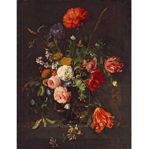 Хем, Ян Давидс де - Цветы в вазе - Картины Эрмитажа - Картин….jpg