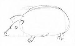 Как нарисовать Ёжика карандашом поэтапно