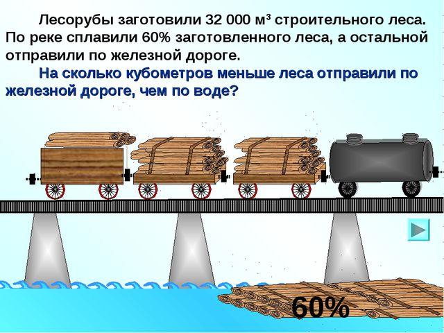 Лесорубы заготовили 32 000 м3 строительного леса. По реке сплавили 60% загот...