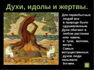 Духи, идолы и жертвы. Для первобытных людей все в природе было одушевленным.