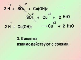 SO4 H Cu(OH)2 + + + + -2 -2 +2 2 2 SO4 Cu + H2O H Cu(OH)2 + + +2 2 2 Cu + H2O