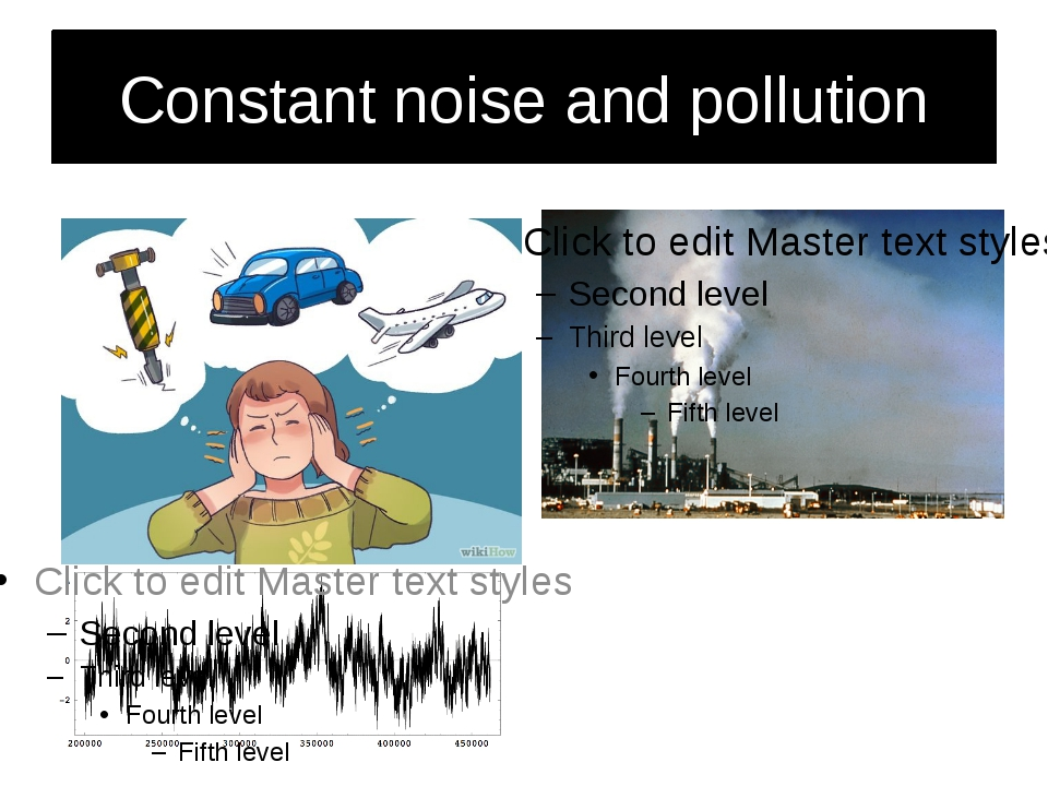 Constant noise and pollution