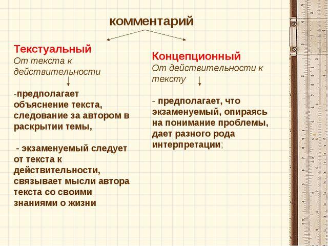 Текстуальный От текста к действительности -предполагает объяснение текста, сл...