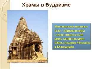 Мистическим аналогом тела – жертвы и горы служит индуистский храм, такой как