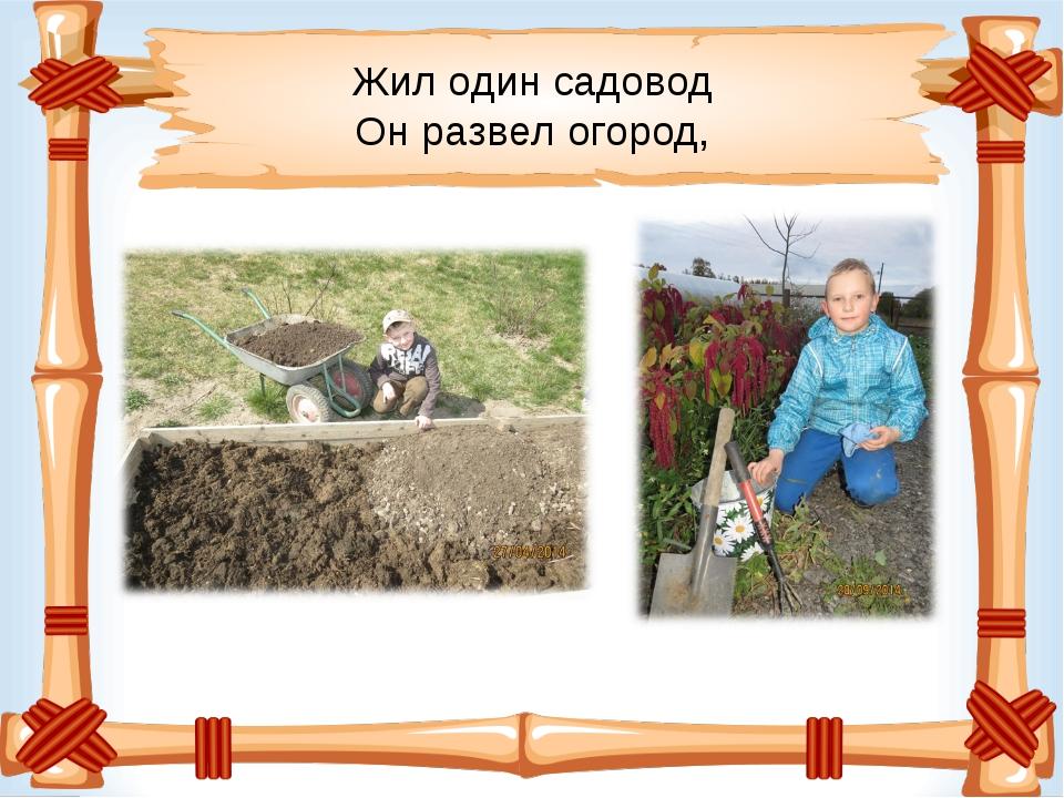 Жил один садовод Он развел огород,
