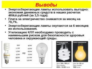 Выводы Энергосберегающие лампы использовать выгодно: экономия денежных средст