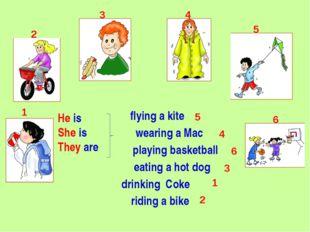 wearing a Mac playing basketball eating a hot dog drinking Coke riding a bike
