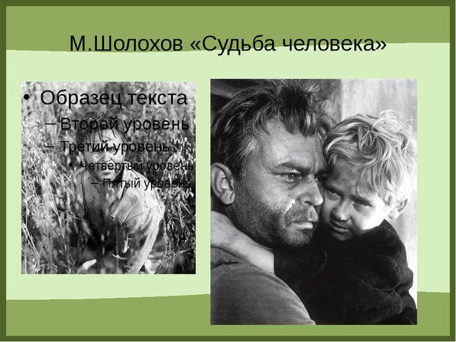 М.Шолохов «Судьба человека» FokinaLida.75@mail.ru