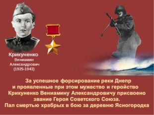 Крикуненко Вениамин Александрович (1925-1943)