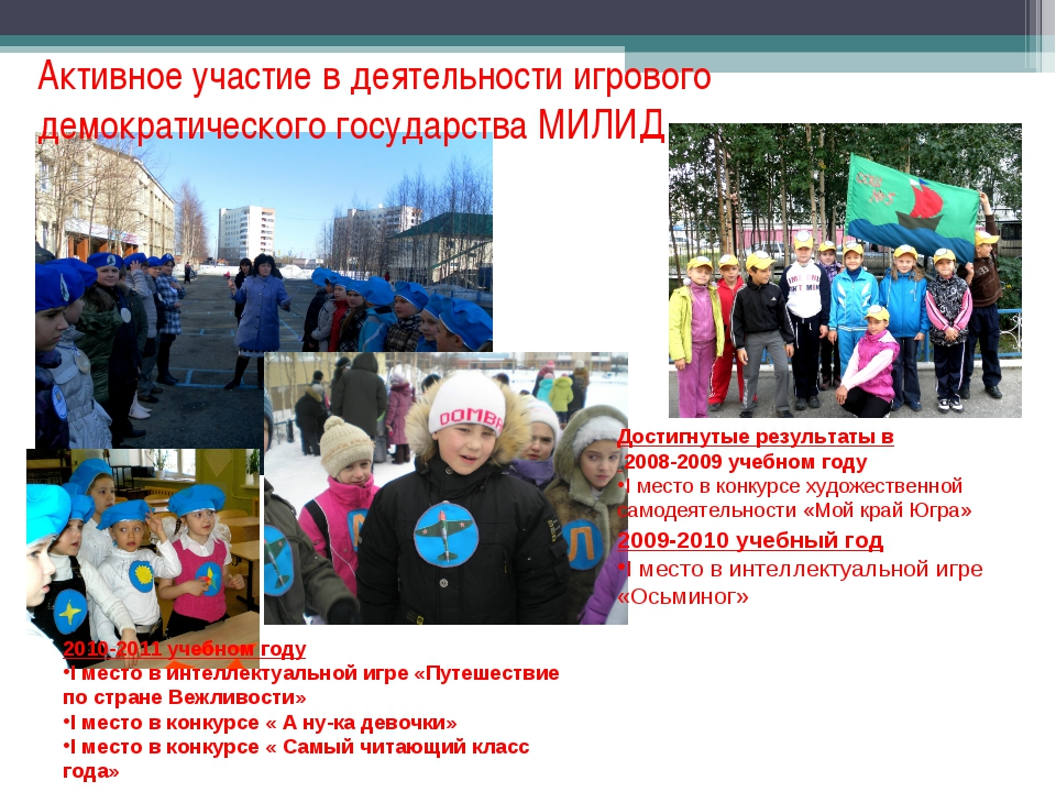 Активное участие в деятельности игрового демократического государства МИЛИД 2...