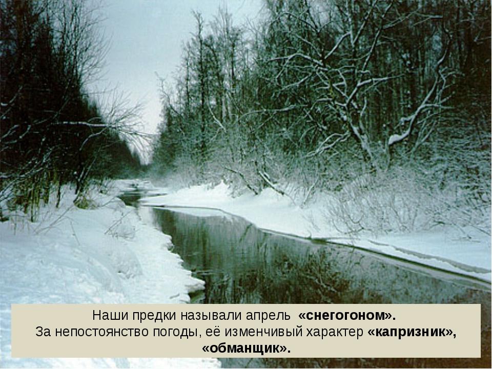 Наши предки называли апрель «снегогоном». За непостоянство погоды, её изменчи...