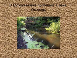 В Бутурлиновке протекает 1 река Осередь