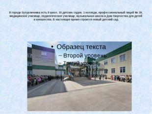 В городе Бутурлиновка есть 9 школ, 10 детских садов, 1 колледж, профессионал