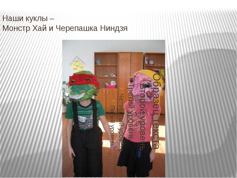 Наши куклы – Монстр Хай и Черепашка Ниндзя