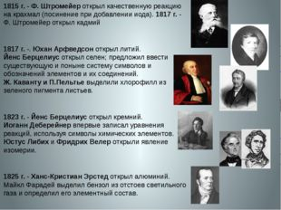 1815 г.- Ф. Штромейер открыл качественную реакцию на крахмал (посинение при