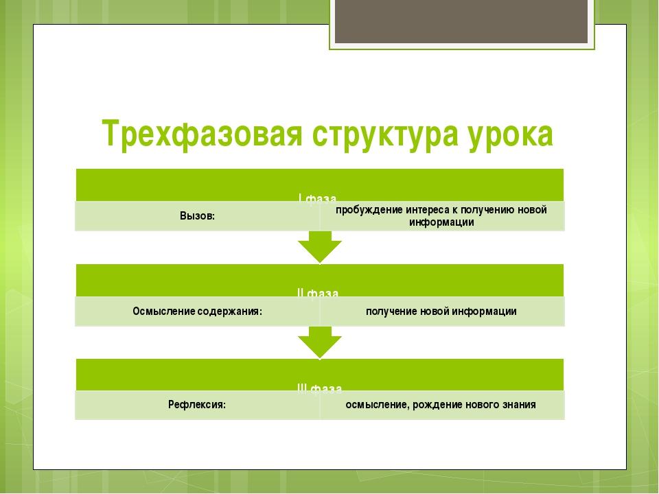 Трехфазовая структура урока