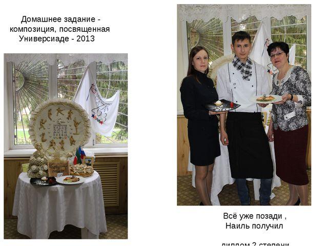 Домашнее задание - композиция, посвященная Универсиаде - 2013 Всё уже позади...
