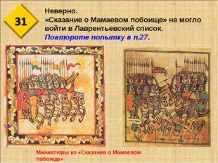 Неверно. «Сказание о Мамаевом побоище» не могло войти в Лаврентьевский список