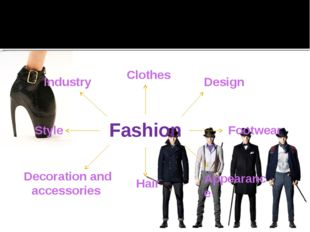 Fashion Industry Clothes Design Footwear Appearance Hair Decoration and acces