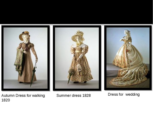 Autumn Dress for walking 1820 Summer dress 1828 Dress for wedding