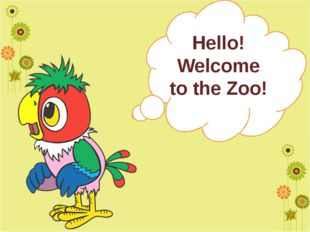Hello! Welcome to the Zoo!