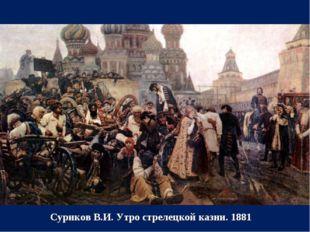 Суриков В.И. Утро стрелецкой казни. 1881