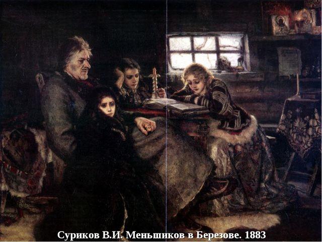 Суриков В.И. Меньшиков в Березове. 1883