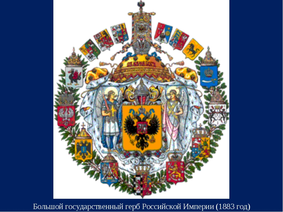 Большой государственный герб Российской Империи (1883 год)