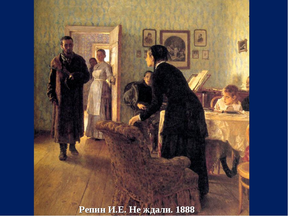 Репин И.Е. Не ждали. 1888