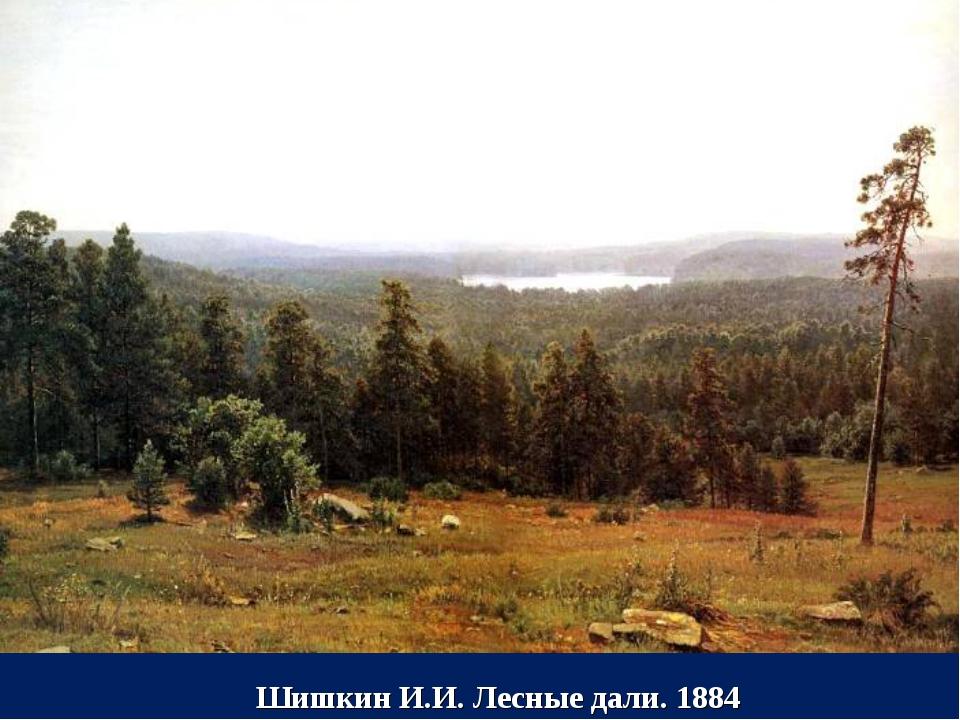 Шишкин И.И. Лесные дали. 1884
