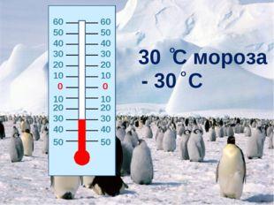 0 0 20 20 10 10 10 10 20 20 30 30 30 30 40 40 40 40 50 50 30 C мороза - 30 C