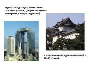 здесь соседствуют памятники старины (замок, где расположена императорская рез