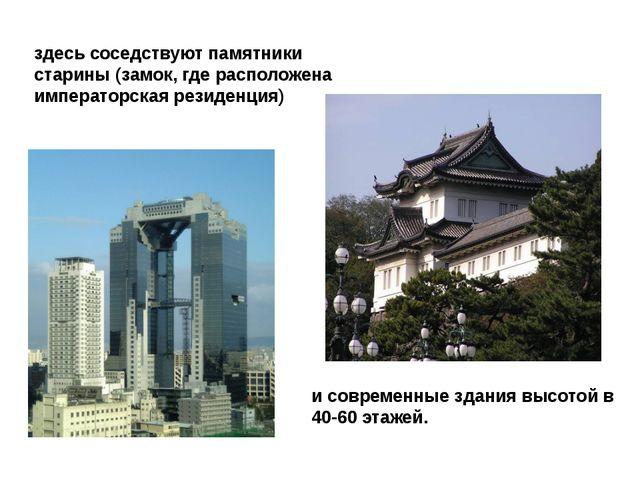 здесь соседствуют памятники старины (замок, где расположена императорская рез...