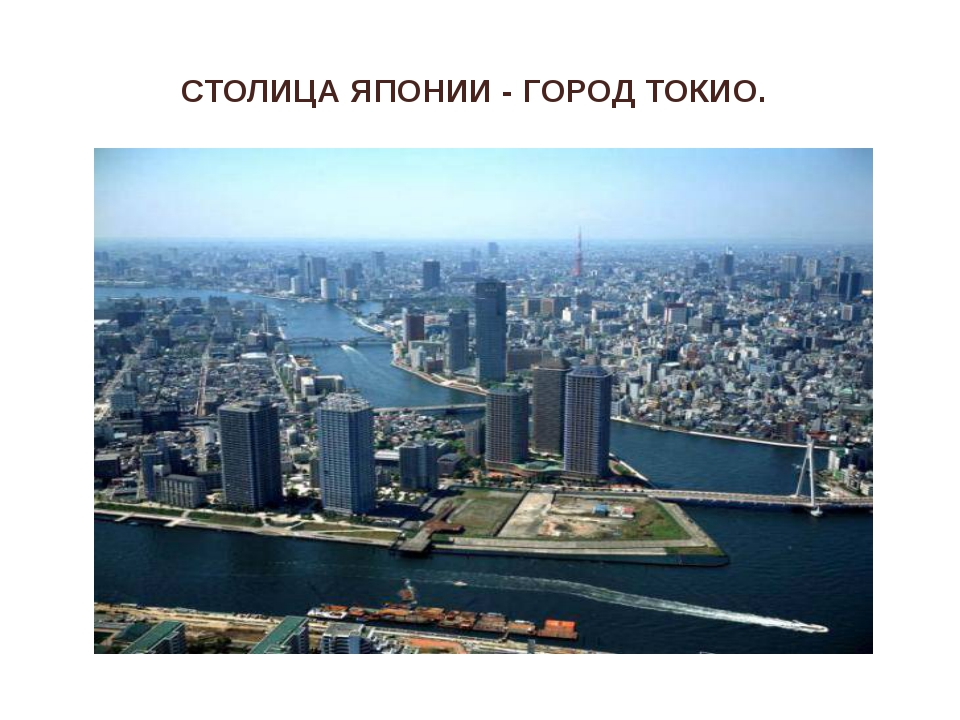 СТОЛИЦА ЯПОНИИ - ГОРОД ТОКИО.