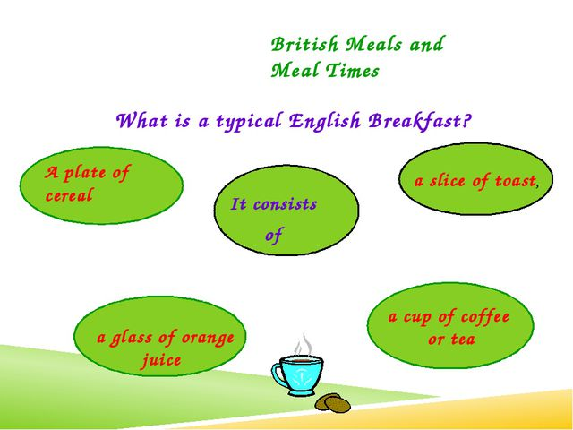 What is a typical English Breakfast? British Meals and Meal Times It consists...